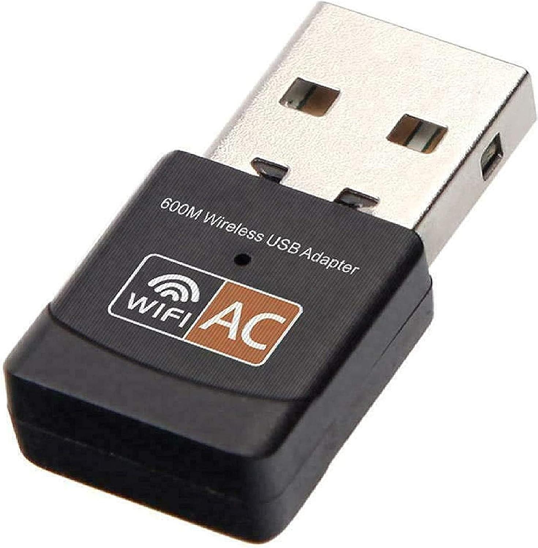 600Mbps Bluetooth USB WiFi Adapter Dongle Dual Band 2.4/5Ghz for Desktop Laptop for Laptop/Desktop/PC, Support Windows10/8/8.1/7/Vista/XP/2000, Mac OS X 10.6-10.13