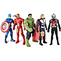 Caddle&Toes The Team Avengers Set of Five Action Figures (Multicolor)