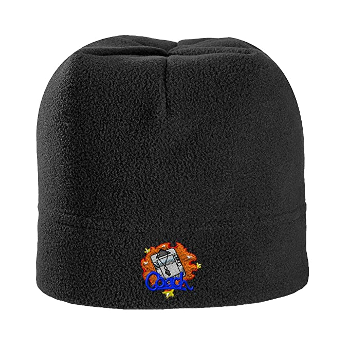 971bcb07 Sport Coach Logo Embroidered Unisex Adult Polyester/Spandex Stretch Fleece  Beanie Winter Hat - Black