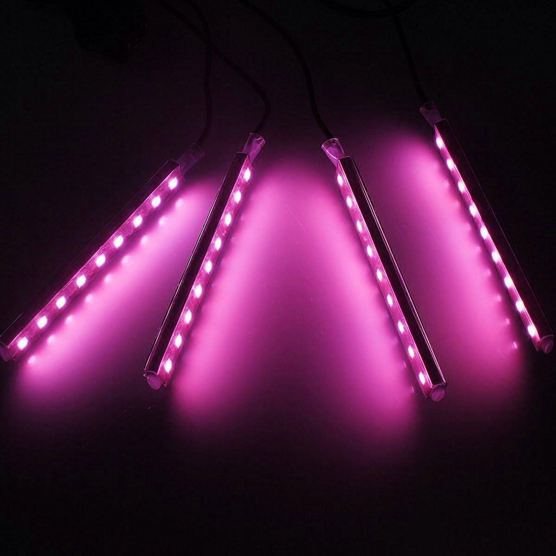 SJDZ Car Interior Decoration Led Interior Underdash Lighting Kit Neon lighting Pink