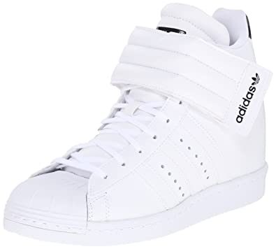 adidas Originals Womens Superstar up Strap ShoesWhite White Black9 5 M