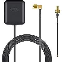 Antena GPS: Receptor GPS Impermeable SMA Macho Plug - Auto GPS Activo Antena Antena Conector Cable para Ford/Volkswagen…