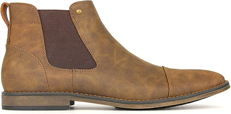 BETTS New Panic Mens Casual Boots Shoes Tan 8