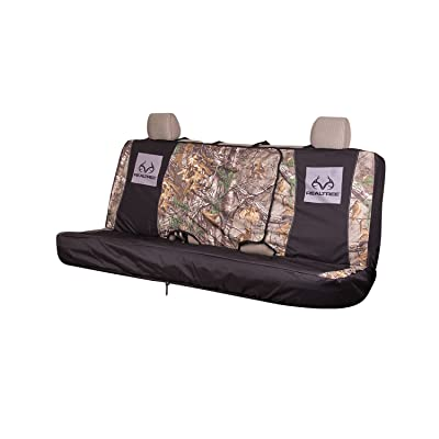 Realtree RSC5009 Camo Bench Seat Cover, Xtra, Full Size, Bench-Seat Cover With Fold-away Center Console Access, Water Resistant Polyester : Clothing