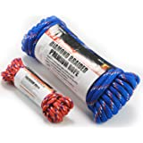 Wellmax Diamond Braid Nylon Rope, 1/2in X 50FT with Bonus 1/4in x 25FT Cord UV Resistant, High Strength and Weather…