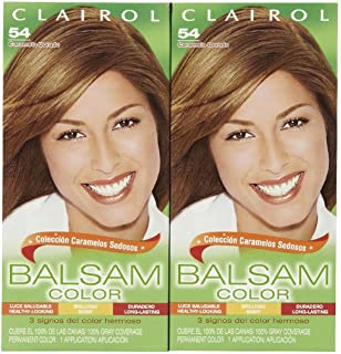 Clairol Balsam Hair Color, Light Golden Brown (54), 2 pk