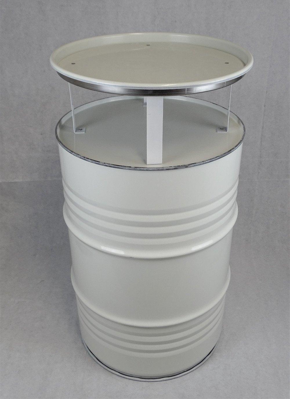 Fassmöbel Stehtisch Bistrotisch Tisch Design Partytisch Weiß Ø 57cm Höhe 108cm   Glatter Glanz - pflegeleichte Oberfläche