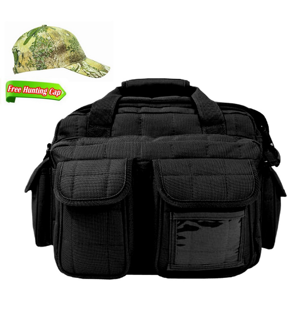 8. R1 BK, TAN, OD, ACU MOSSY OAK Padded Quilted Deluxe Tactical Range and Gear Bag – Rangemaster holding 12 guns Gear Bag