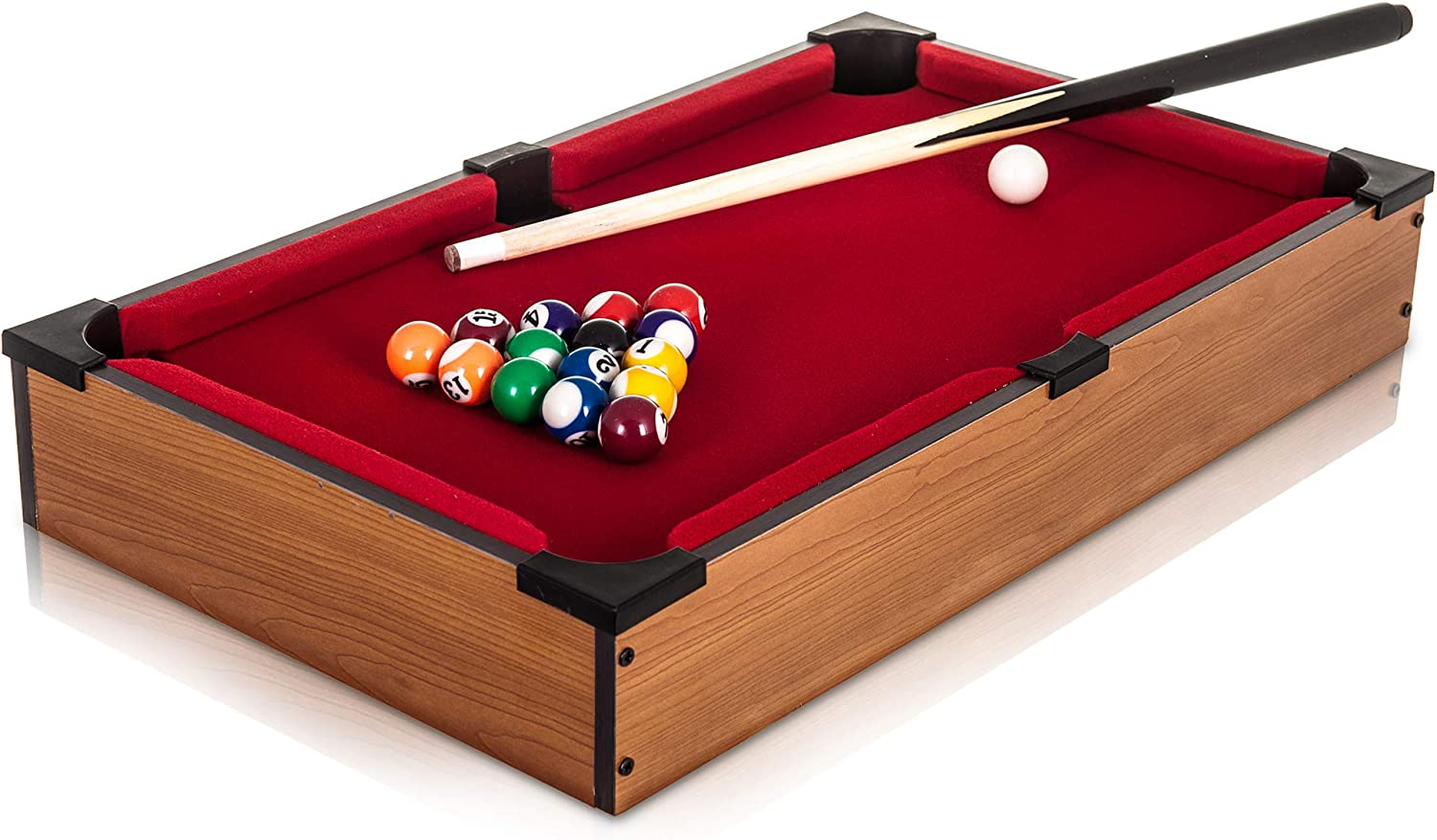 DELUXE MINI TABLE TOP POOL SET CHILDRENS CUE BALLS TOY SNOOKER GAME XMAS GIFT by Pool Table: Amazon.es: Juguetes y juegos
