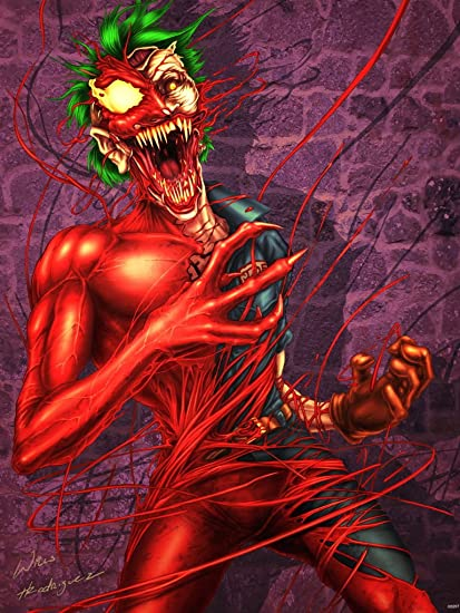 amazon com joker carnage symbiote comic crossover painting awesome