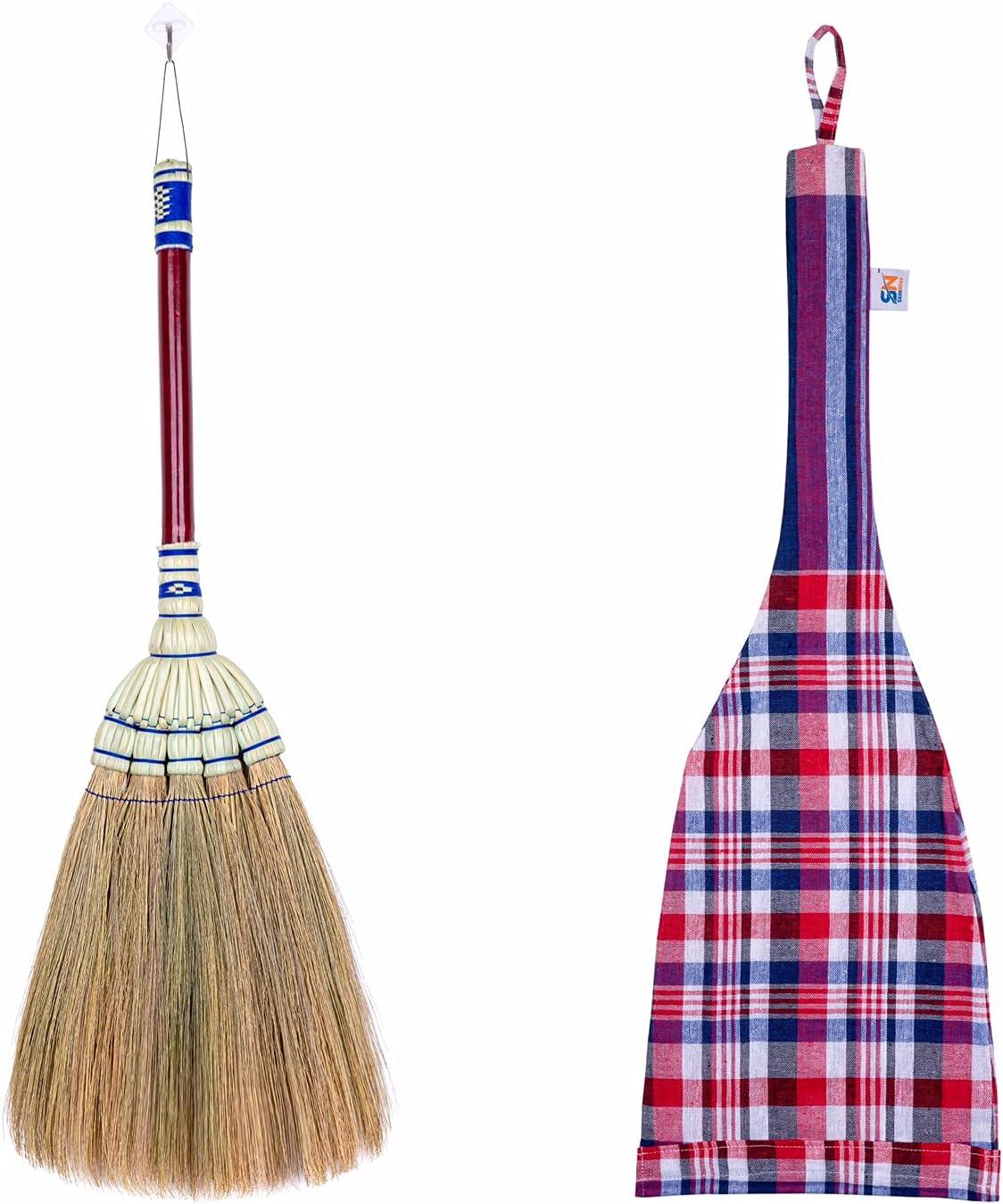 Natural Grass Broom 24