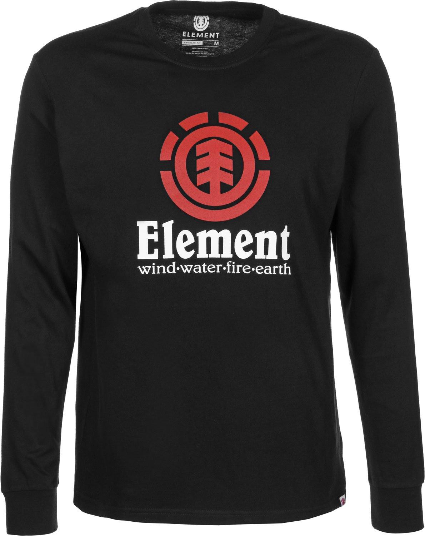 Element Vertical Long Sleeve Tee Flint Black