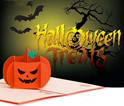 halloween pumpkin 3d pop up greeting cards all saints day pop up gift