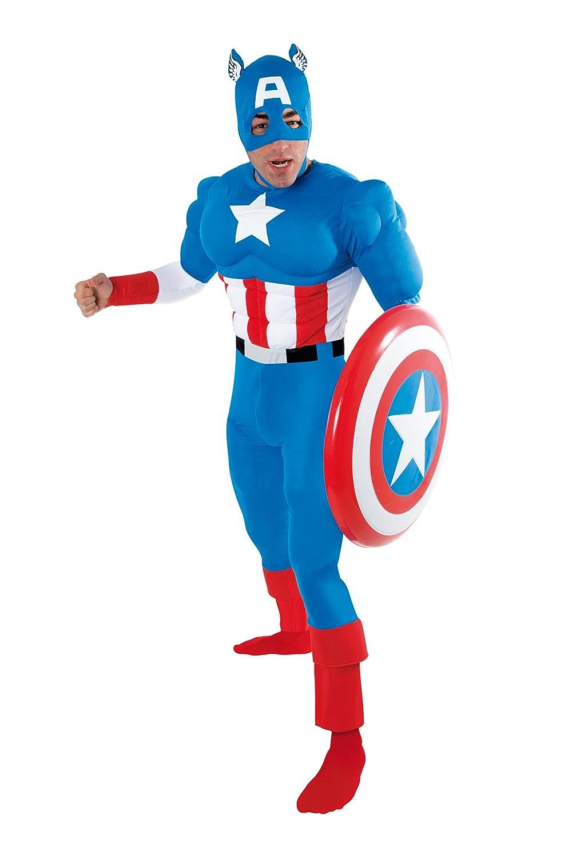 cesar b capitn amrica disfraz de adulto talla amazones juguetes y juegos  with disfraz adulto casero. 003fcacc766