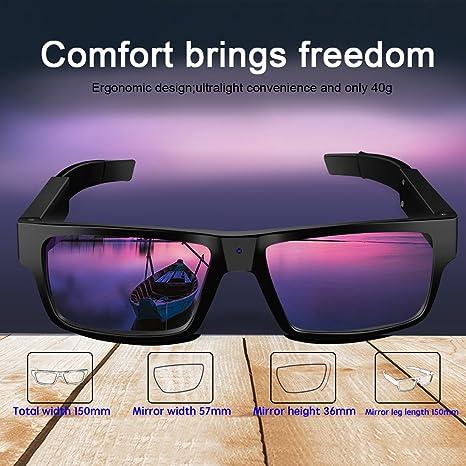 G2 8 Go Vidéo Hd De Avez Lentilles Pour D'extérieur Angle Touchable Remplaçables 1080p °grand Lunettes Sports Caméra 120 Diggro Les Intégrée WDHY9E2I