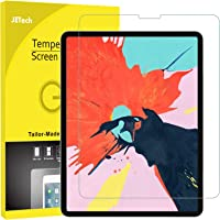JETech Screen Protector for iPad Pro 12.9-Inch (2018 Release Edge to Edge Liquid Retina Display), Face ID Compatible, Tempered Glass Film