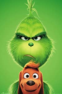 The Grinch Movie Christmas DIY 5D Diamond Painting Kits for Adults Kids Full Drill Round Diamond Gem Art Painting for Home Wall Decor 12x16 inch