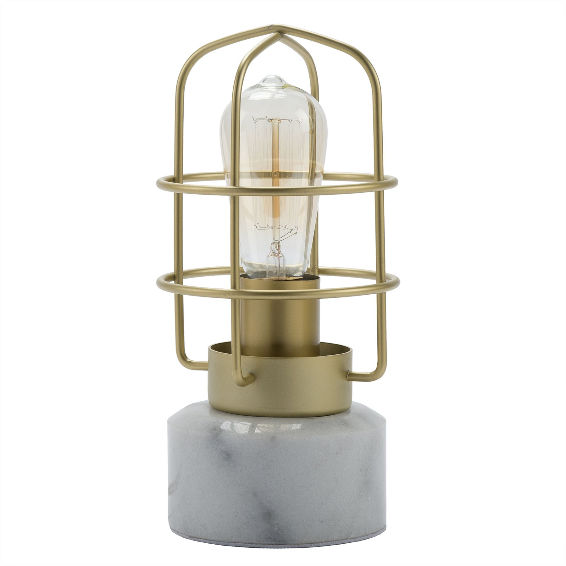 CO-Z Industrial Table Lamp with Marble Base, Vintage Loft Style Desk Lamp 10 inches in Height, Edison Bulb Not Included for Living Room Bedroom Dining Room, UL Certificate