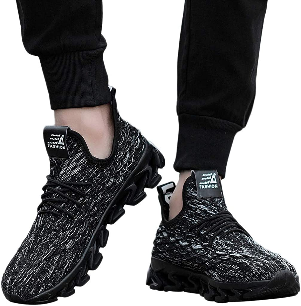 Baskets Basses Résistantes À l'usure Line Chaussures De Course Respirantes pour Hommes Gris