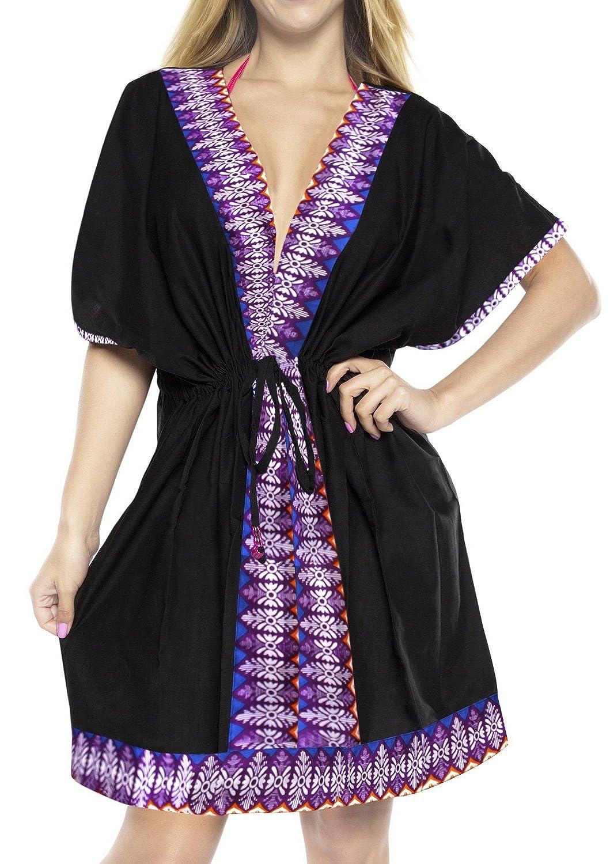 LA LEELA Cardigans for Women Rayon Lightweight Waterfall Solid Plain Kimono Open Front Midi Short Cardigan B