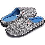 QYTBM Men's House Slipper Cotton Memory Foam Indoor Outdoor Slippers