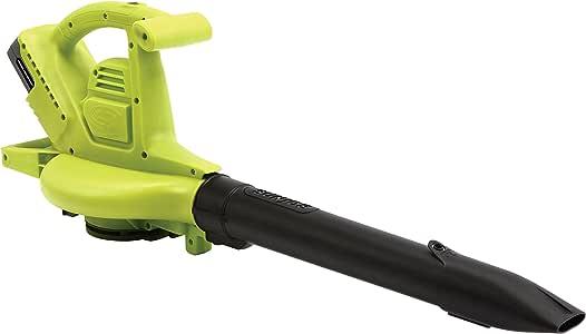 Sun Joe iONBV 40-Volt Variable-Speed Cordless Blower/Vacuum/Mulcher, Kit (w/4.0-Ah Battery + Quick Charger)