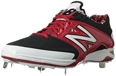 63c8f1429831a New Balance Men's L4040 Metal Low Baseball Shoe,Black/Red,13 ...