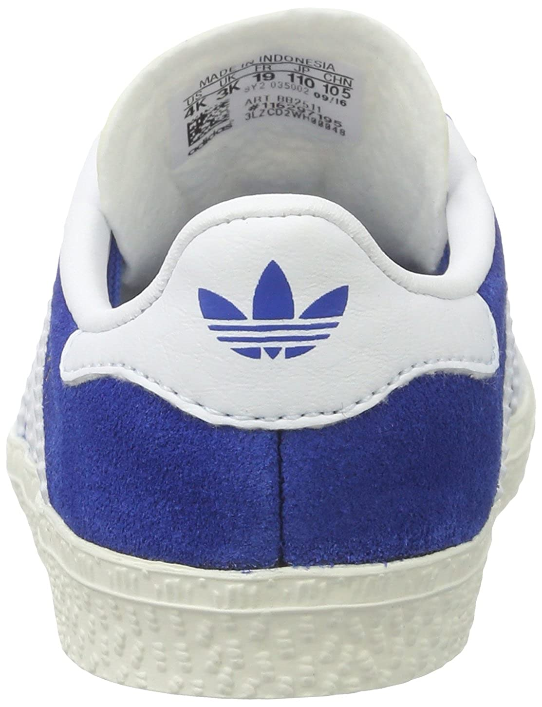 adidas Gazelle, Sneakers Basses Mixte Enfant Bleu (Blue/Ftwr White/Gold Metallic)