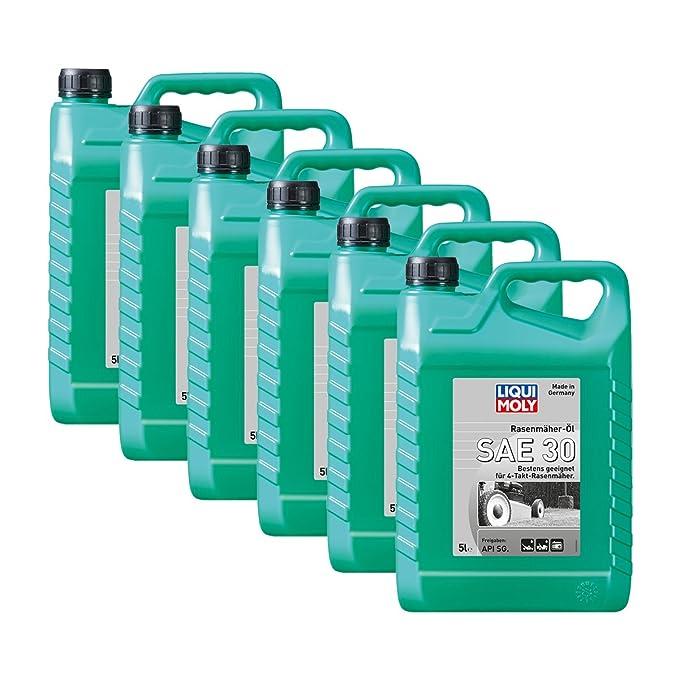 6 x Liqui Moly 1266 Cortacésped de aceite SAE 30 antifricción API ...
