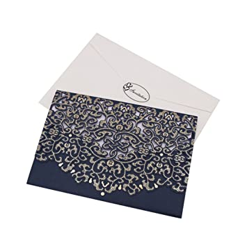 Amazon Com Invitation Cards Sacow 10pcs Delicate Carved