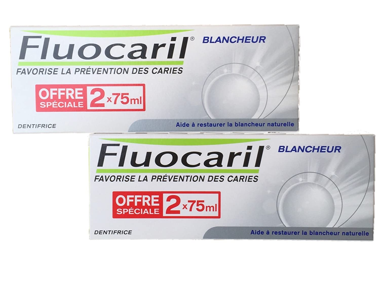 Fluocaril Duplo Pasta Blanqueadora - Pasta de dientes 4 x 75ml: Amazon.es: Salud y cuidado personal
