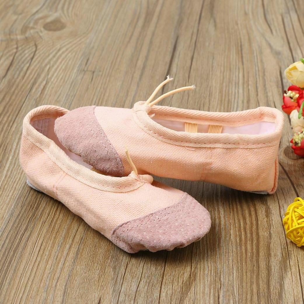 XEDUO Baby Girls Canvas Ballet Pointe Dance Shoes Fitness Gymnastics Slippers