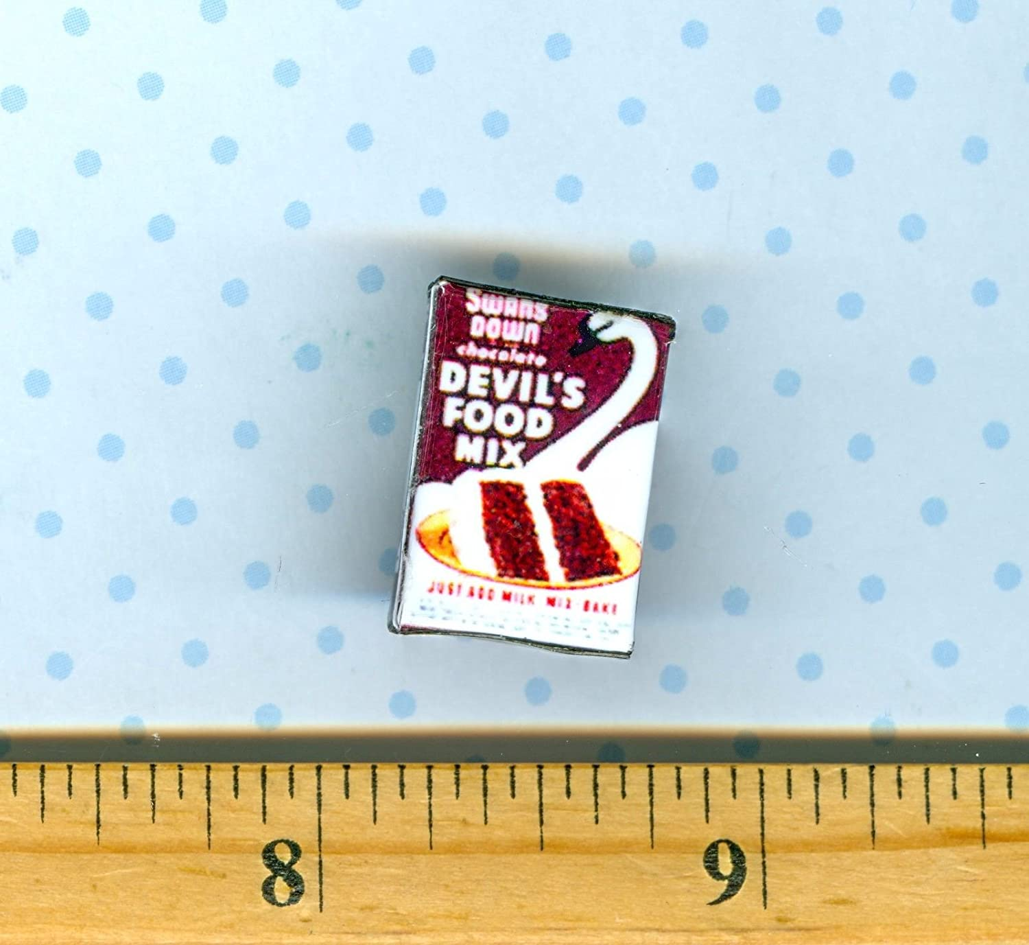 Dollhouse Miniatures SIZE Vintage Whipped Topping Mix  Box