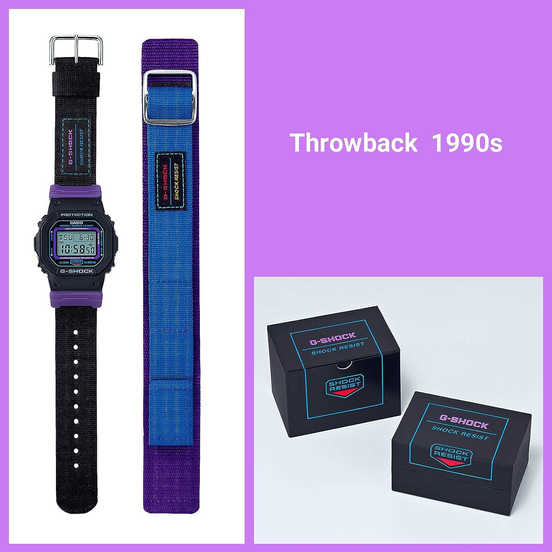 Casio G Shock DW 5600THS 1JR Throwback 1990 Montre pour