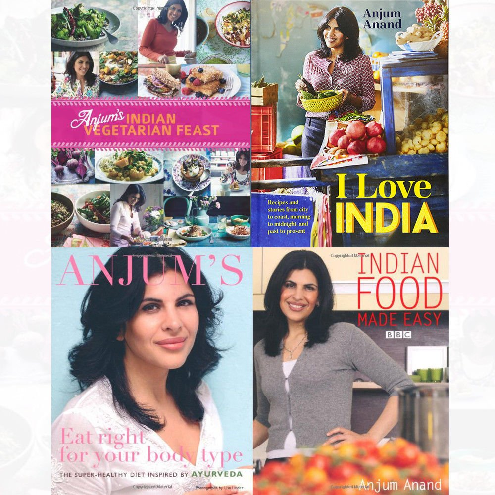 Anjum Anand Cookery Books Collection 4 Books Set Indian