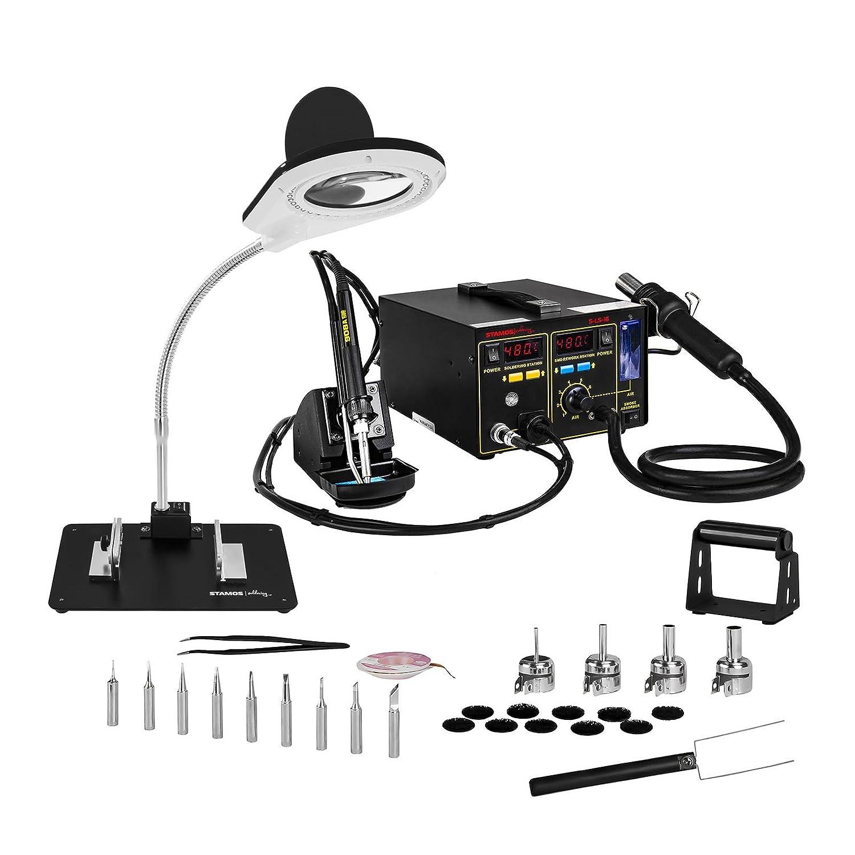 Stamos Soldering - S-LS-16 - Estación de soldadura - SMD - 75 W - 2 x LED - Envío Gratuito: Amazon.es: Bricolaje y herramientas