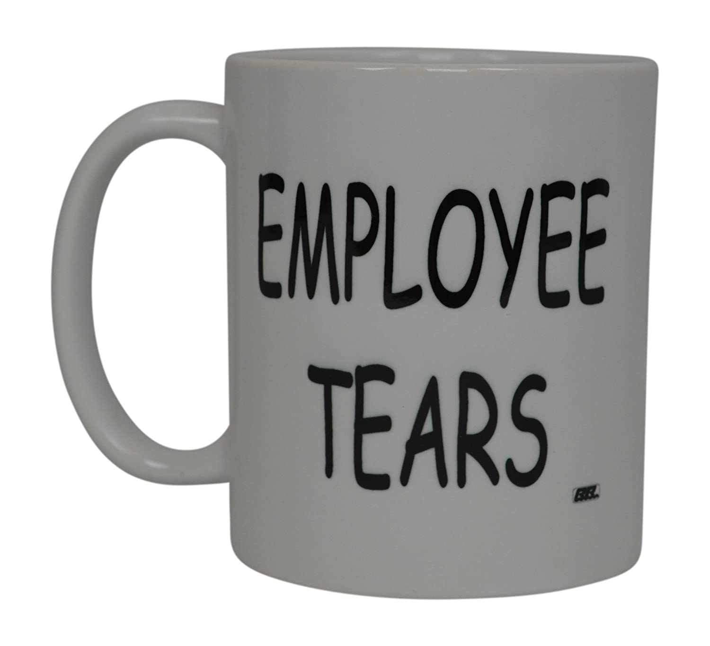 Funny Boss Coffee Mug Employee Tears Novelty Cup Joke Gift Idea For Office Work Employee Coworkers (Employee Tears) Rogue River Tactical