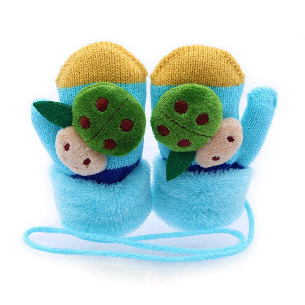 SAMGU Winter Baby Mädchen Kind Marienkäfer warme Handschuhe Fausthandschuhe für Kinder