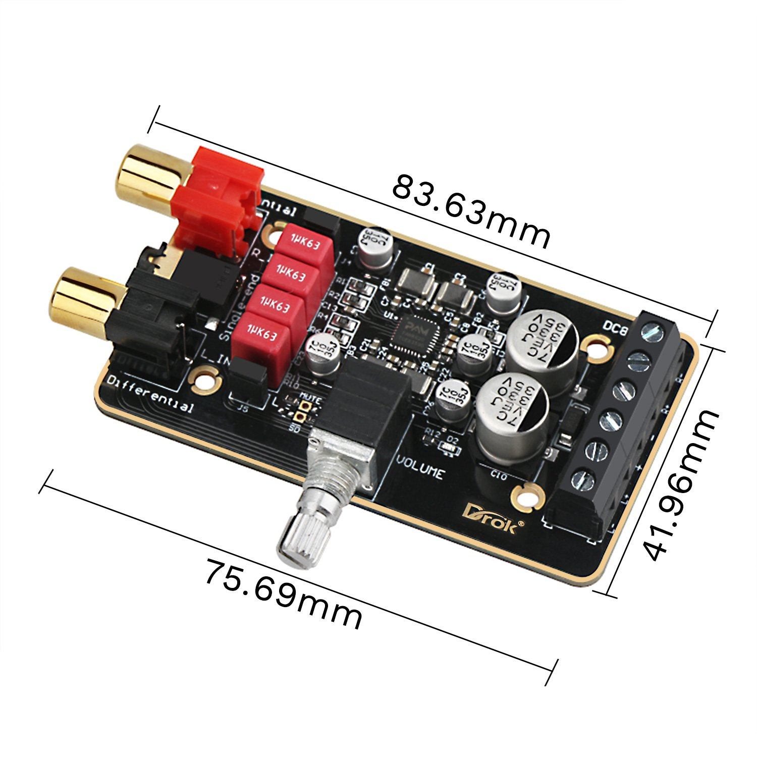 12v Amplifier Board Drok Pam8620 Digital Stereo Amp 30w Power Circuit Diagram 30 Watt Audio Pcb Module 15w 20 Dual Channel Class D 8 26v 12 V 24v Immersion Gold