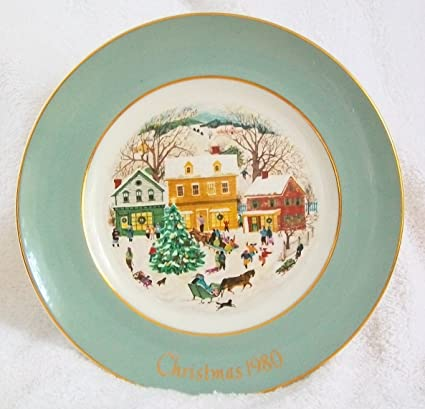 avon 1980 christmas plate country christmas