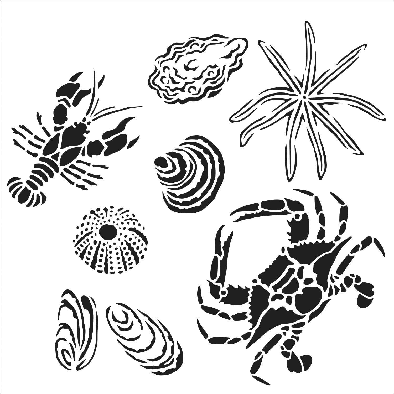 Crafters Workshop TCW867 - Plantillas de 30,5 x 30,5 cm, diseño de la costa del golfo