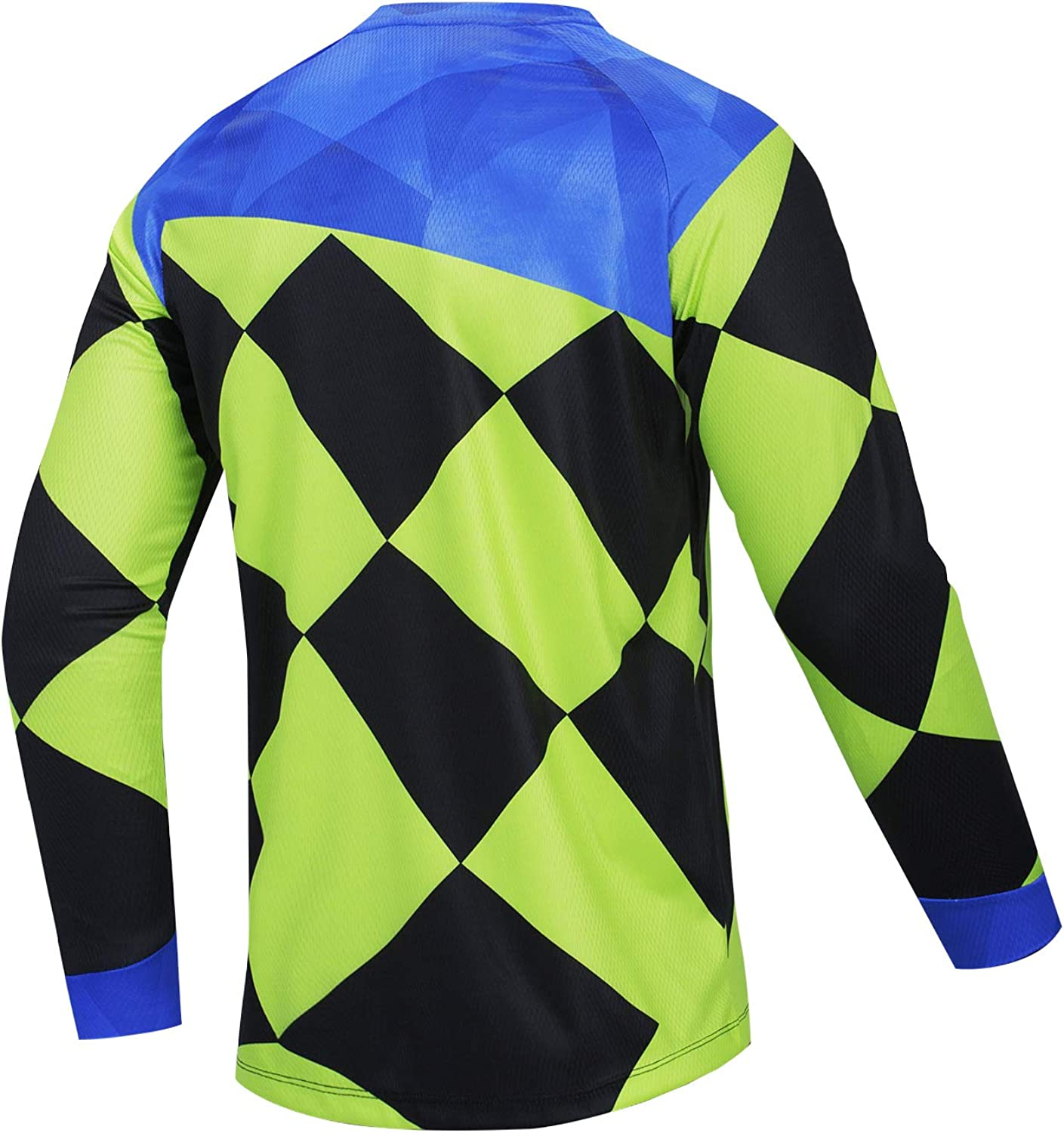 JPOJPO Mens Cycling Jersey MTB T Shirt Long Sleeve Youth Off-Road Motorcycle Jersey Bicycle Clothes Anti-UV