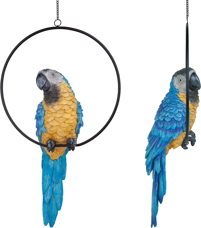 21cm rainbow lorikeet parrot wall plaque art hanger bird figurine