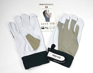 10//XL OX-ON Stone Arbeitshandschuhe weiche Lederhandschuhe Schutzhandschuhe Gr