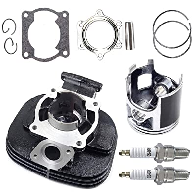ECCPP Replacement for New Cylinder Piston Ring Gasket Kit with Spark Plug for 1988-2006 Yamaha Blaster 200 YFS 200: Automotive