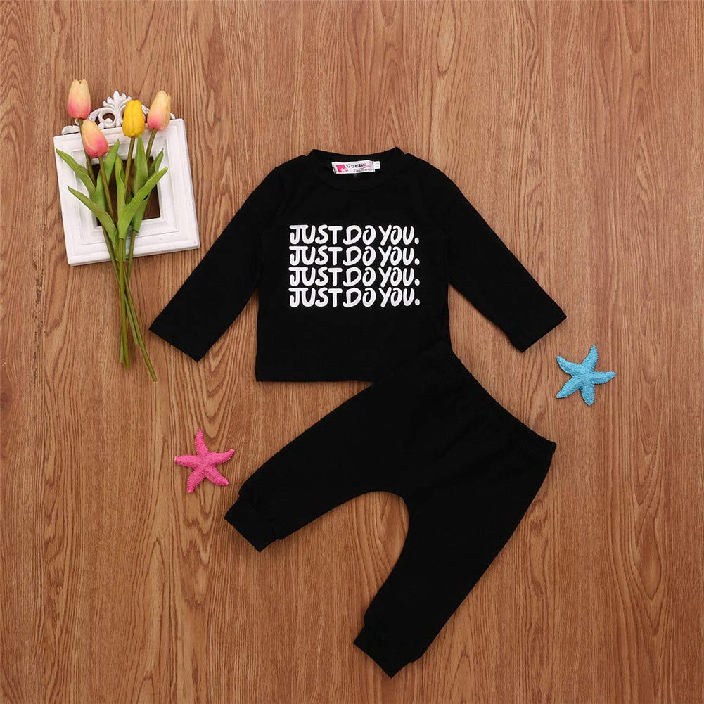 2Pcs//Set Newborn Fashion Kids Baby Boy Outfits Long Sleeve Sweater+Pants Toddler Clothes Sets