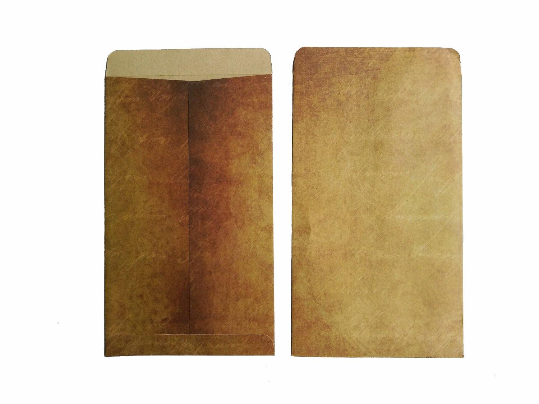 Amazon.com : Brown Vintage Kraft Paper Envelopes, 4.72 x 7.9 ...