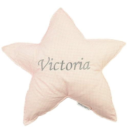 Cojin estrella bordado personalizado: Amazon.es: Handmade