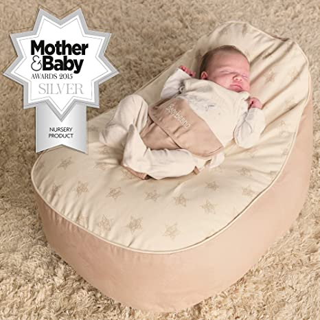 Strange Bambeano Baby Bean Bags Support Chair With Free My 1St Bean Bag Cover Luxury Cuddle Soft Cotton Natural Cream Ibusinesslaw Wood Chair Design Ideas Ibusinesslaworg