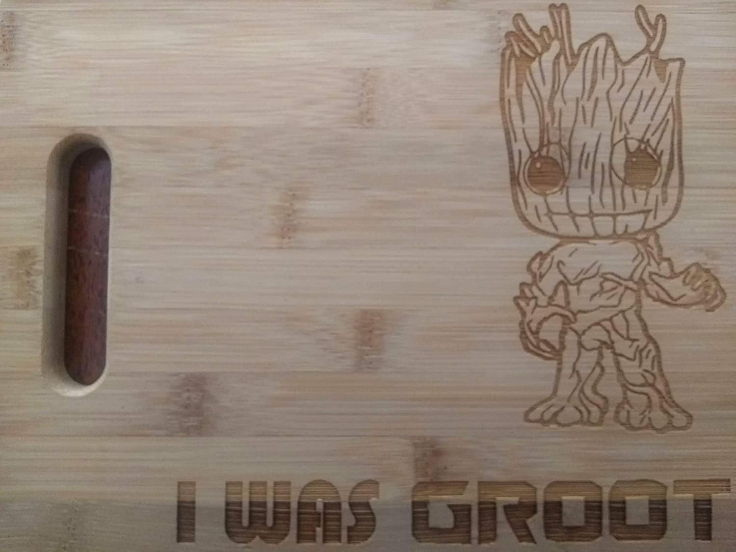 Custom Cutting Board I Was Groot Bamboo Cutting Board Guardians of the Galaxy Avengers Marvel Infinity War Cheese Board Small or Large cutting board Gift for Friends